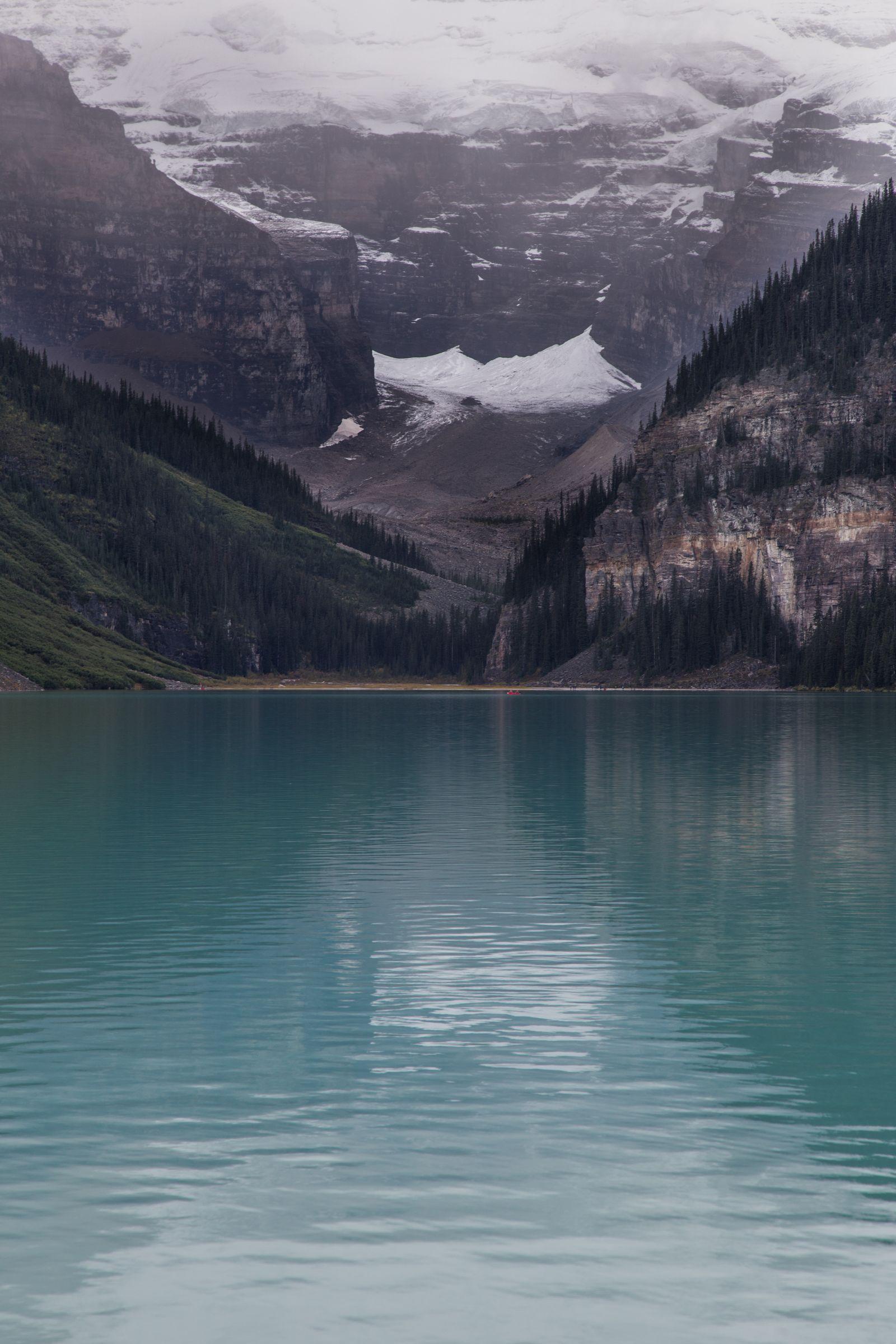 El Victoria Glacier, de nuevo en la distancia