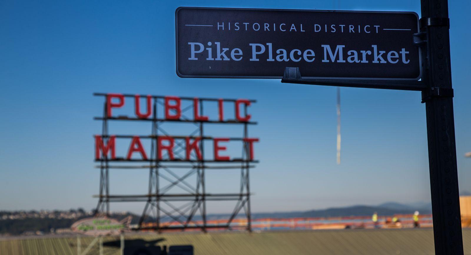 Otro acceso al Pike Place Market