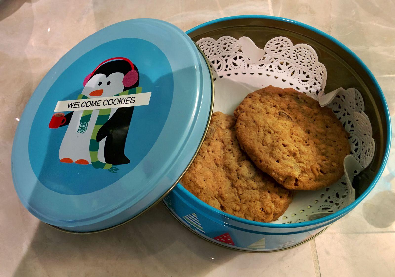 Las galletas de bienvenida