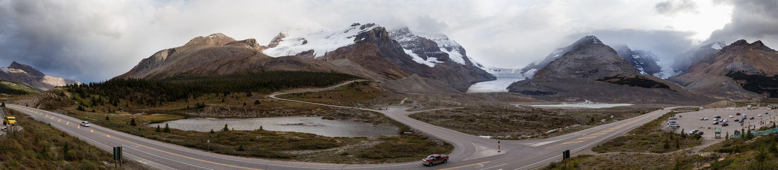 Vistas al glaciar desde la terraza exterior