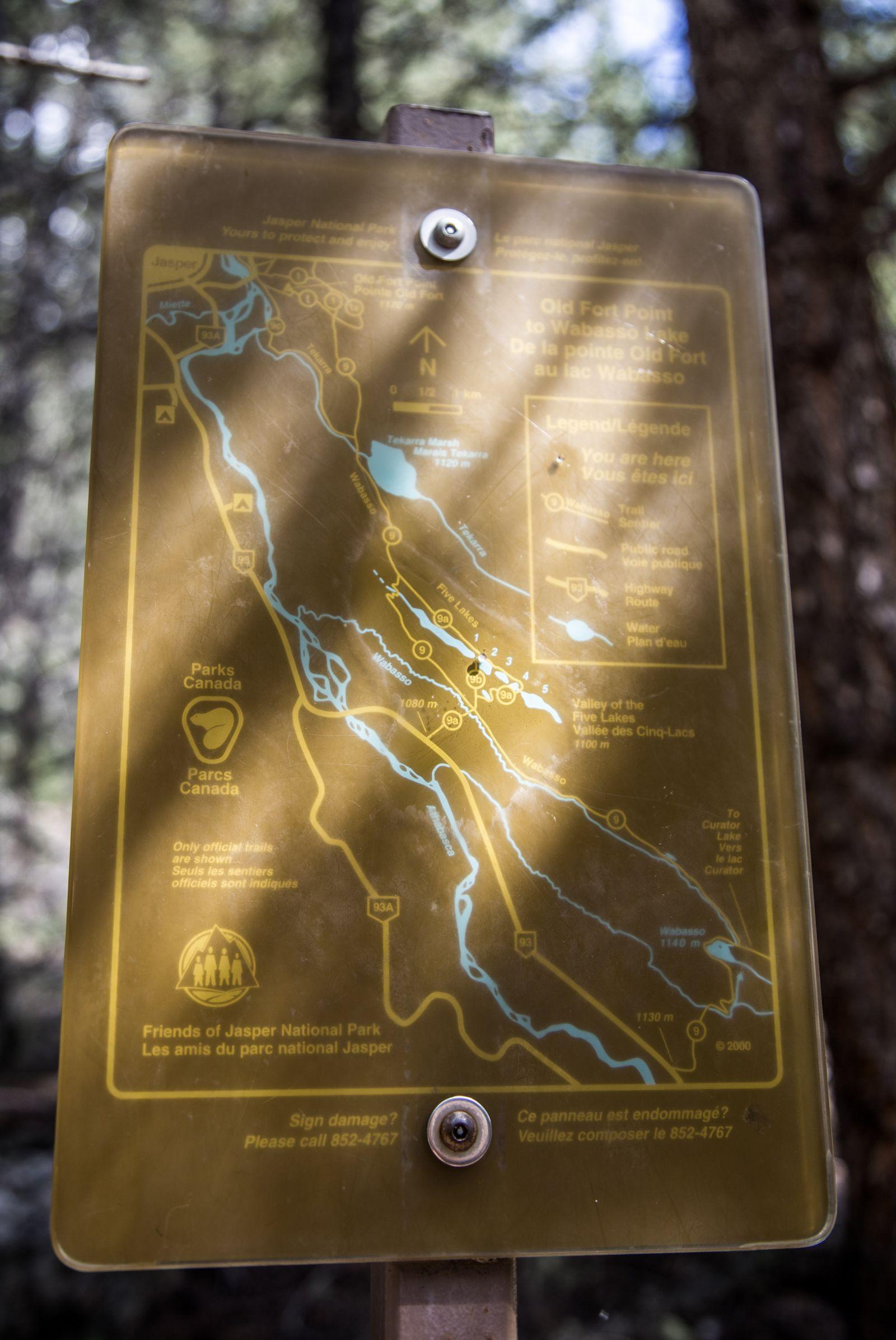 Indicaciones para recorrer los Five Lakes