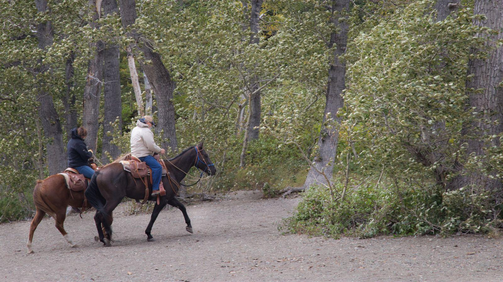 Nuestros vecinos de Crandell Lake iniciando el regreso