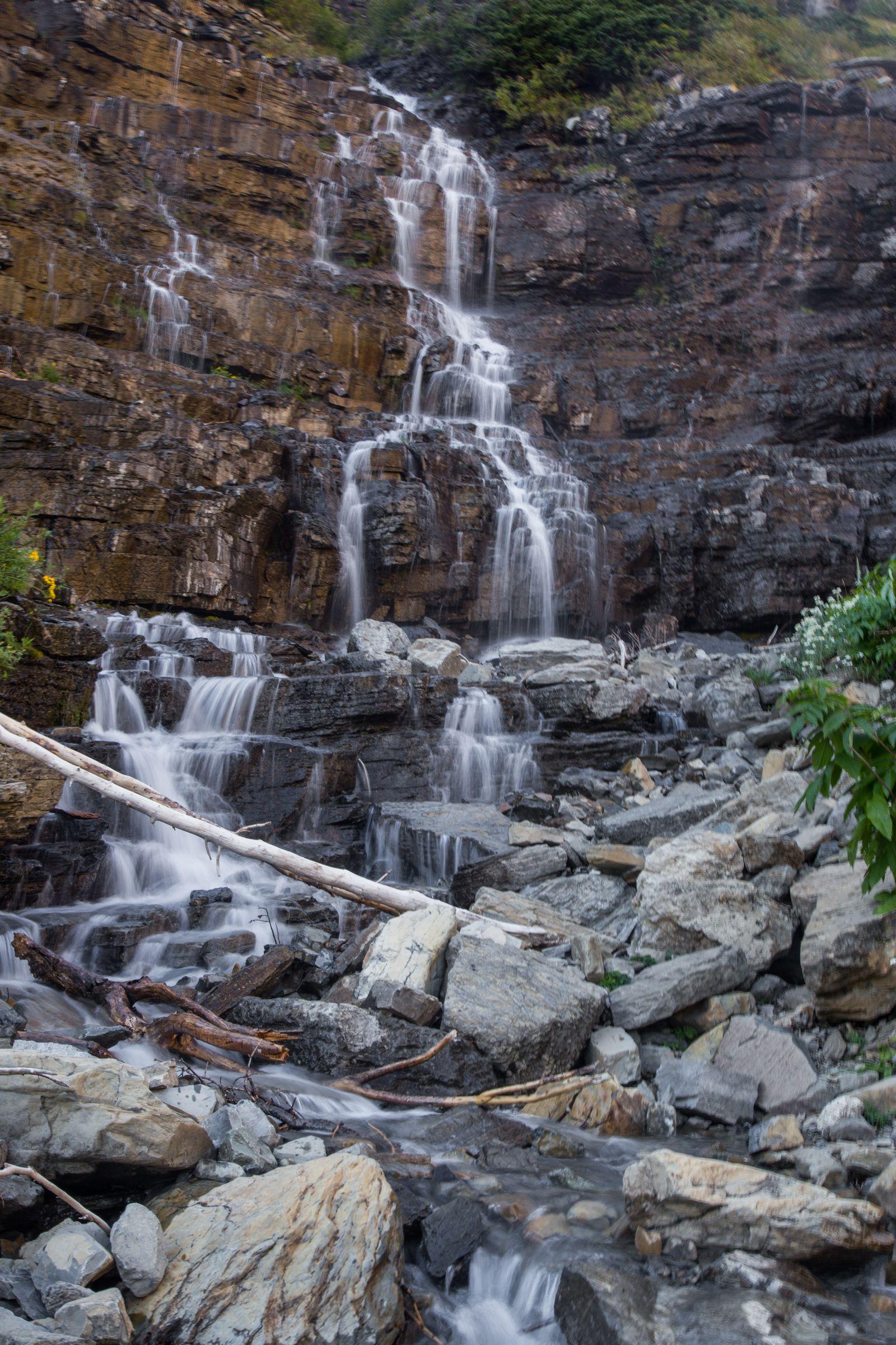 Uno de los saltos de agua junto al Weeping Wall