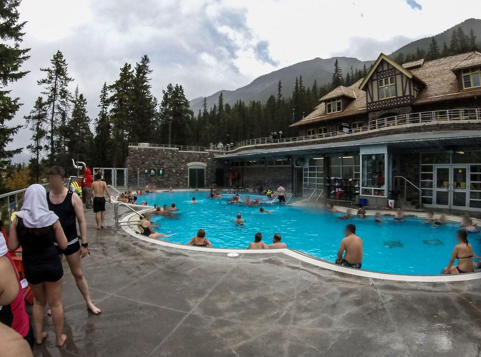 Banff Upper Hot Springs, desde dentro
