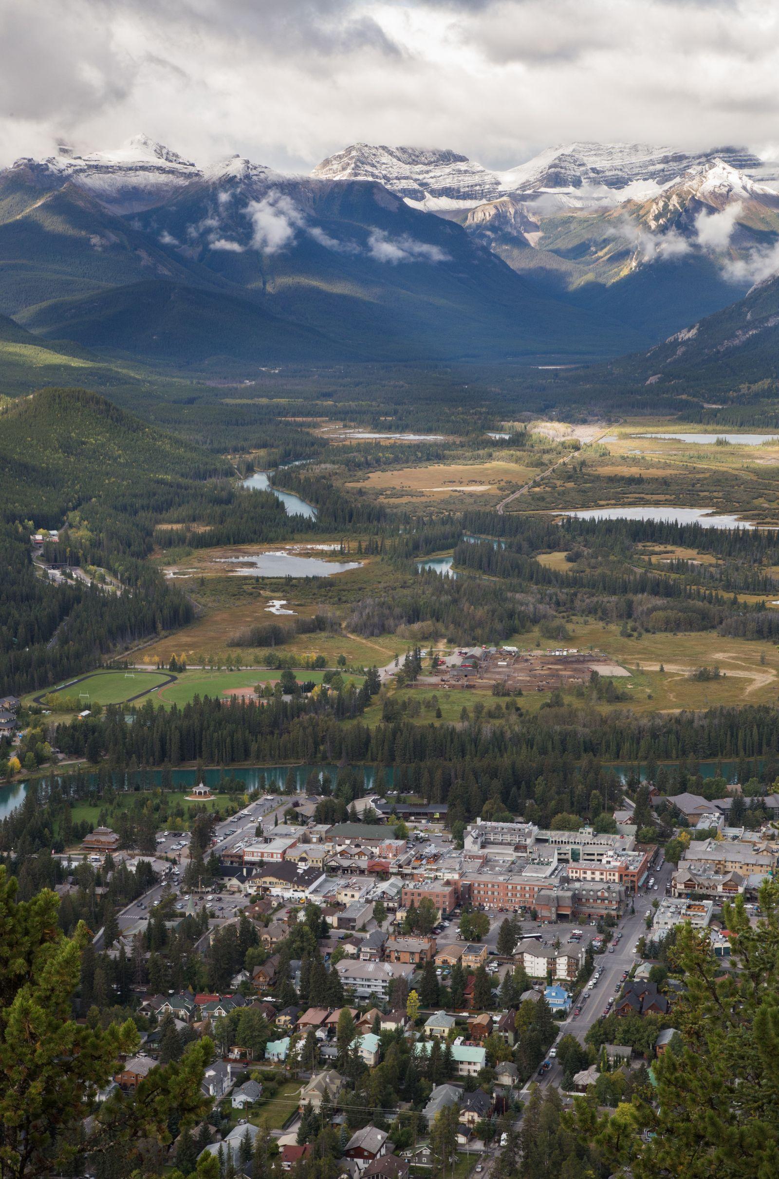 Banff desde las alturas