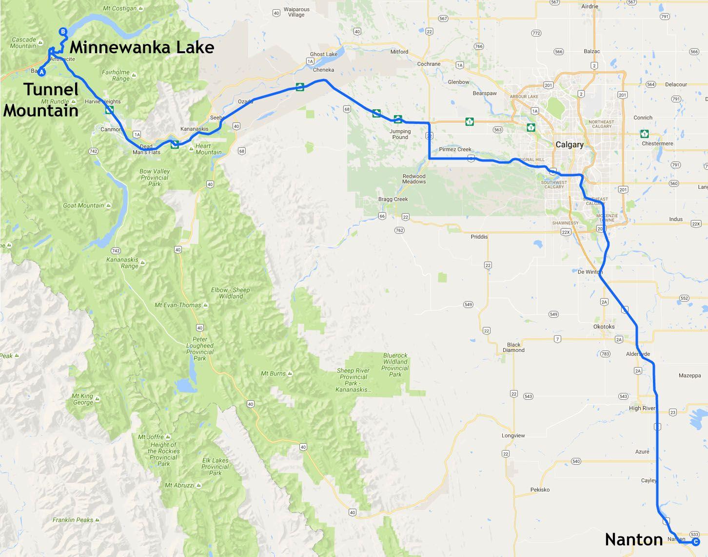 Mapa de la etapa 15