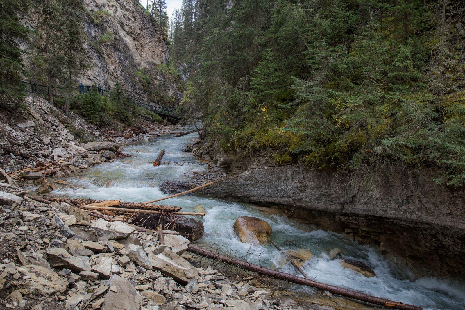 El río Bow atravesando el cañón