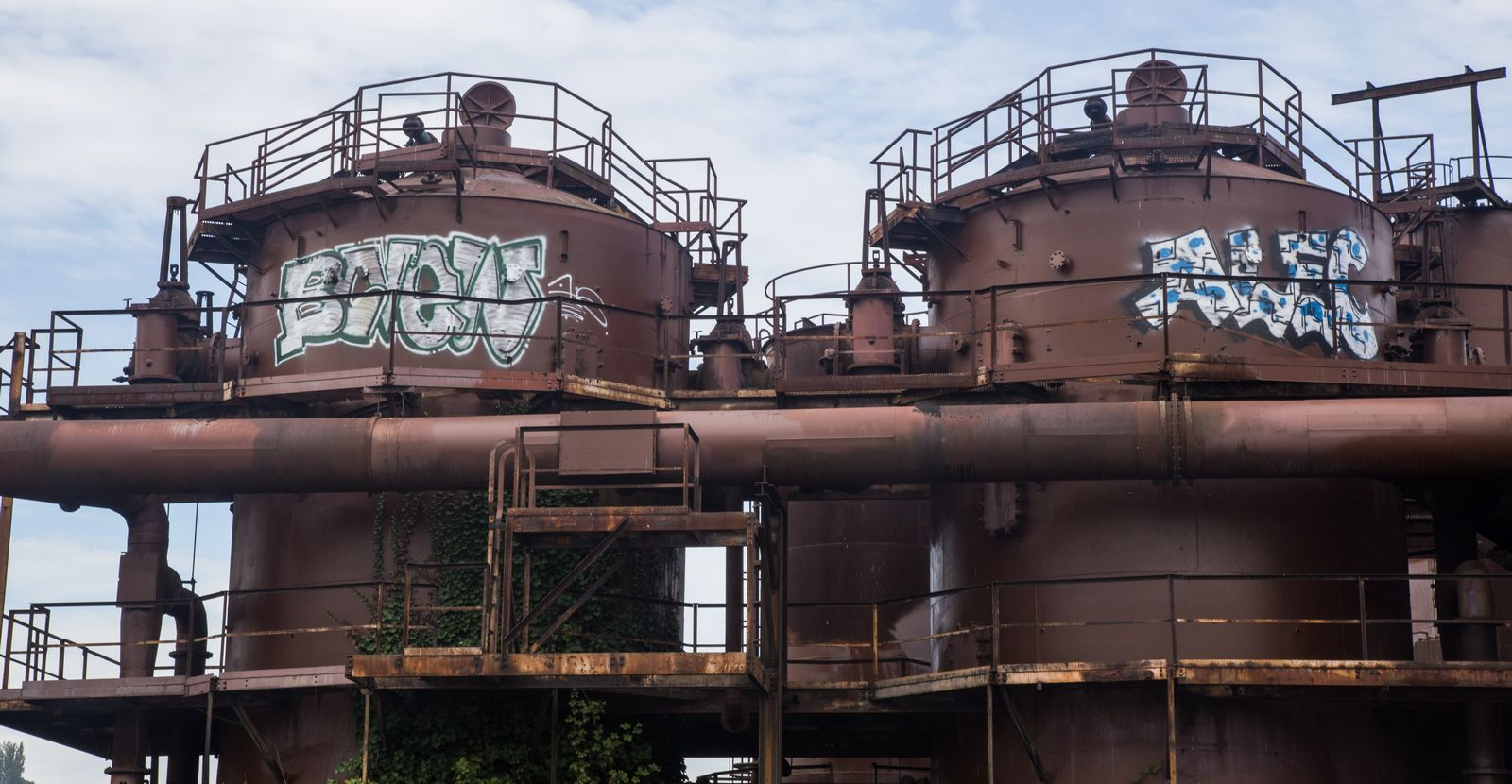 Detalle de la malograda fábrica