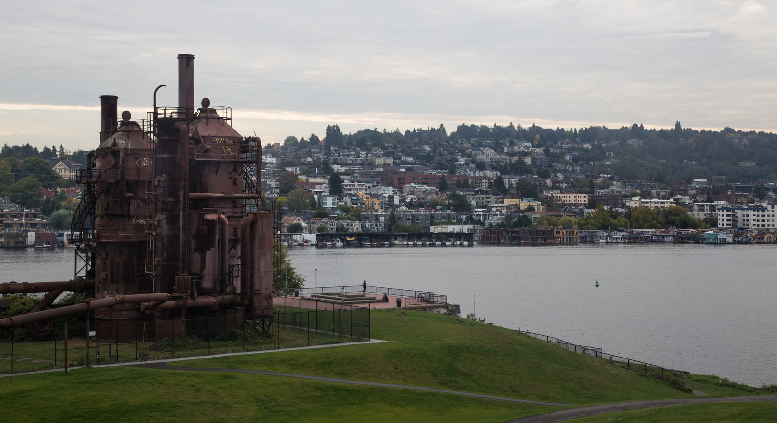 Gas Works Park junto al Lake Union