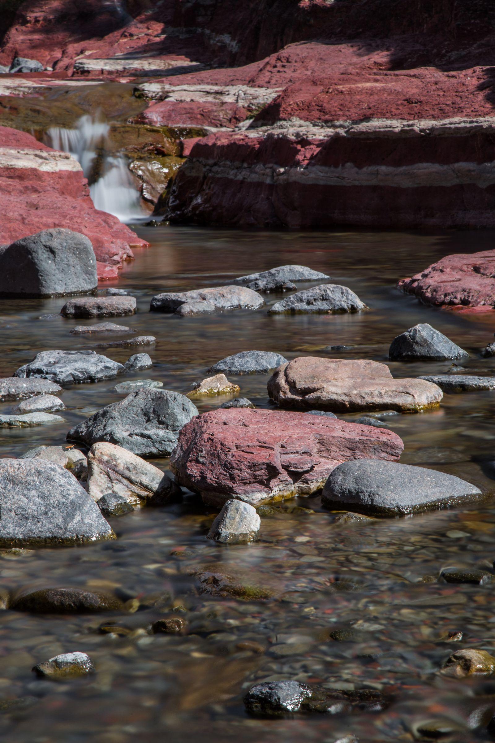 Bajando hasta las aguas del cañón