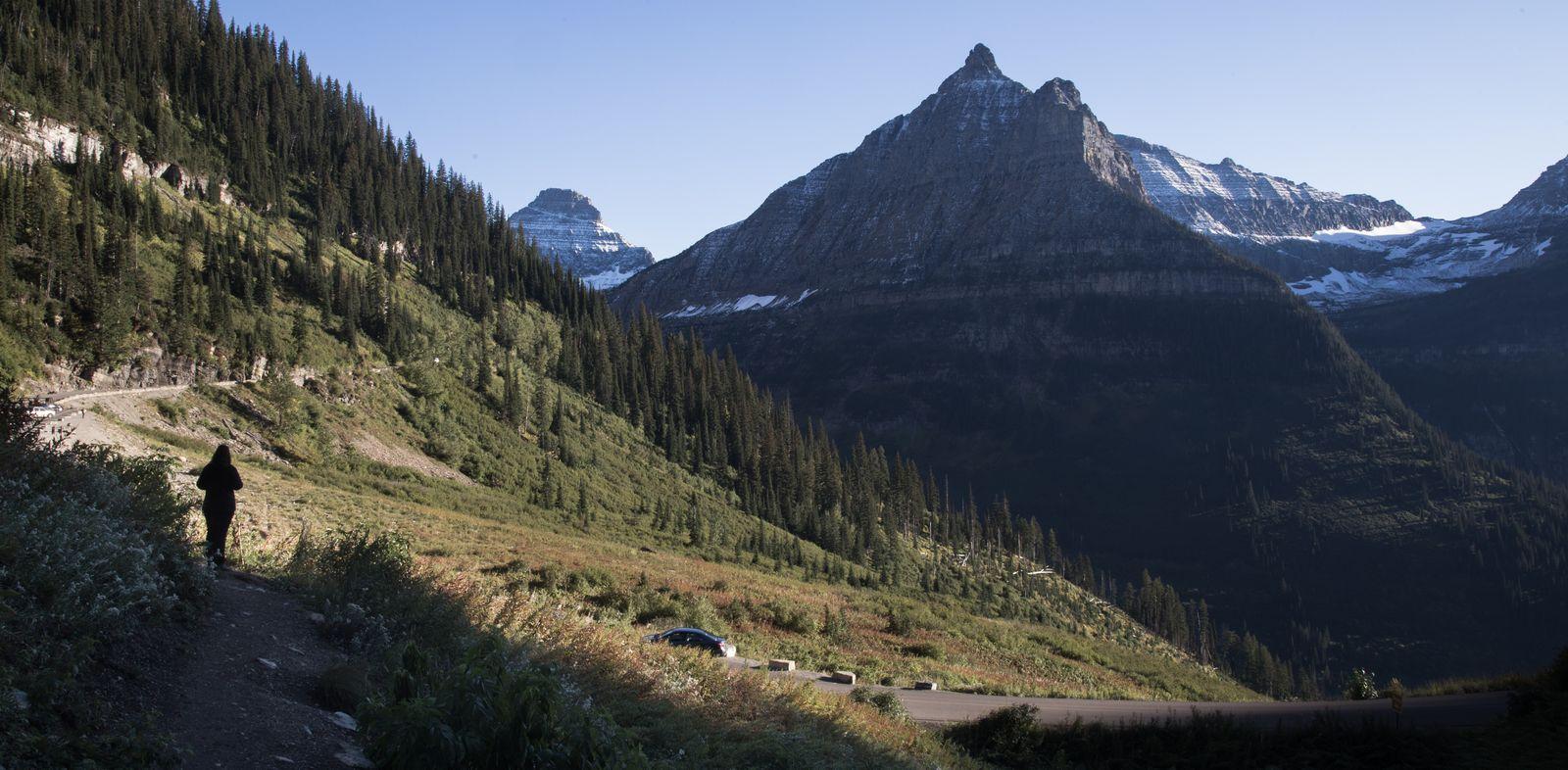 Las vistas a Logan Pass desde el este