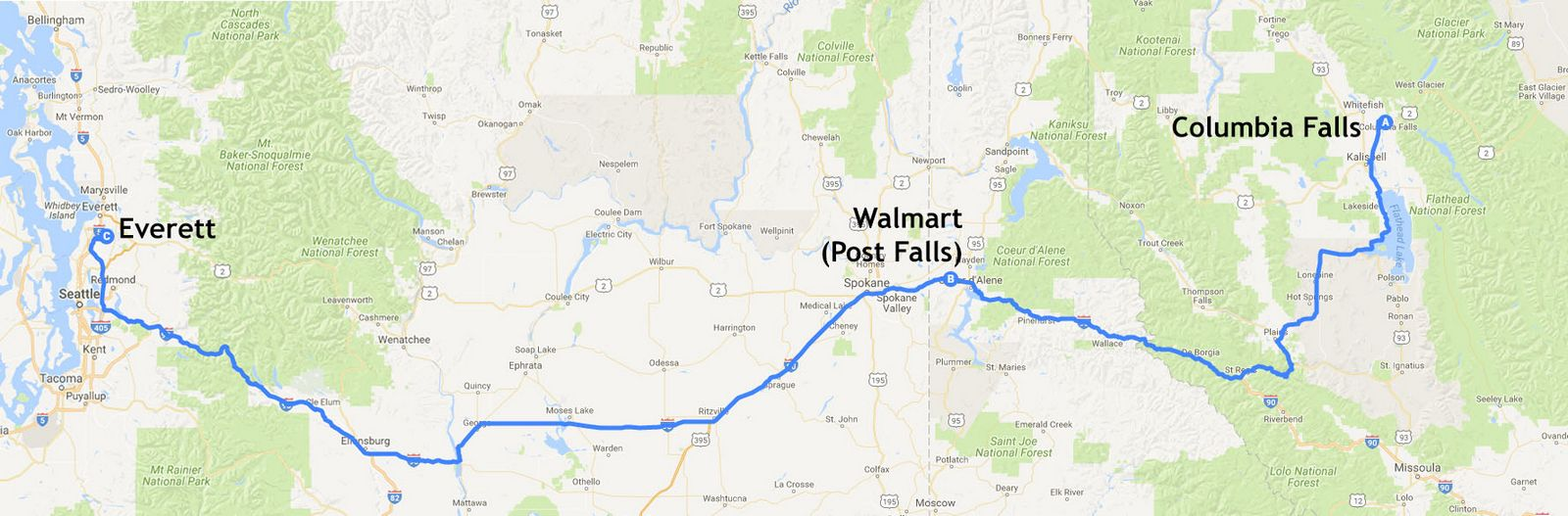 Mapa de la etapa 21