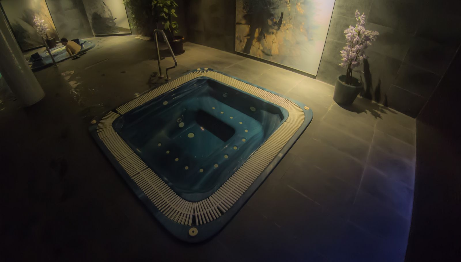 El spa, cuando estaba tranquilo