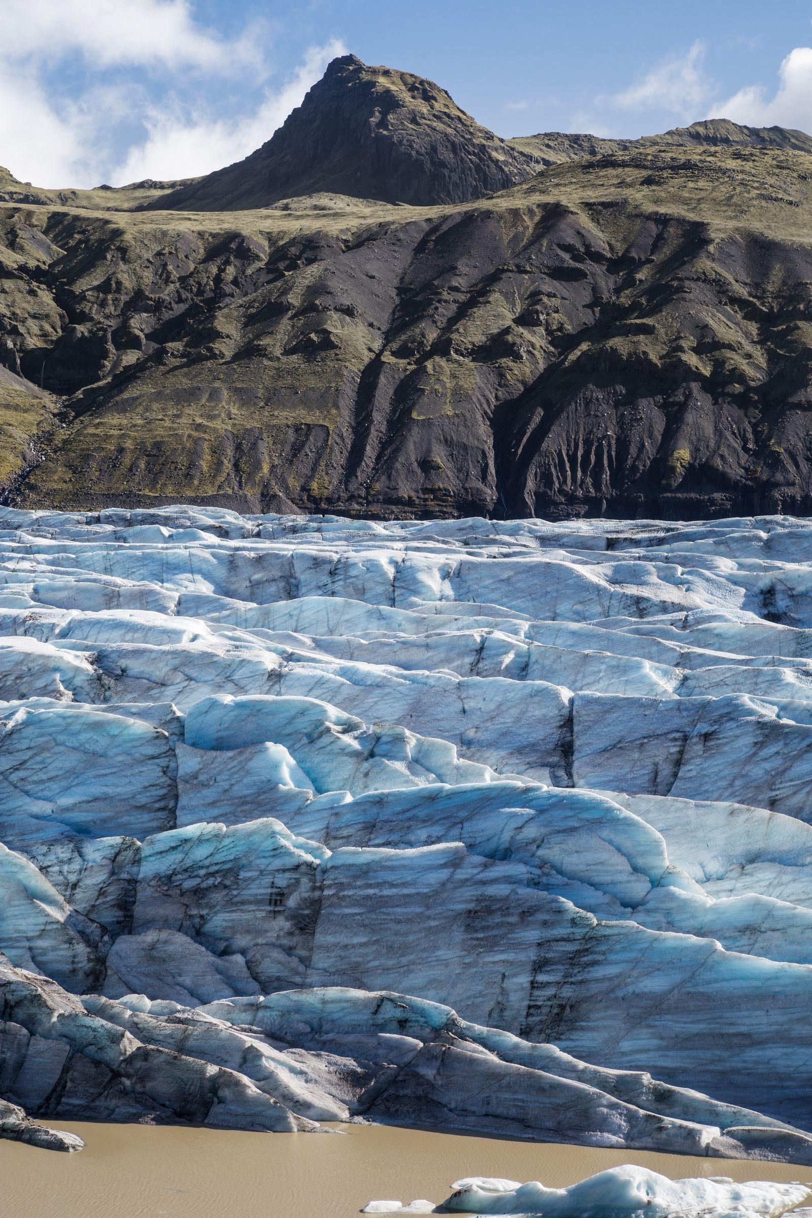 El hielo de Svinafellsjökull