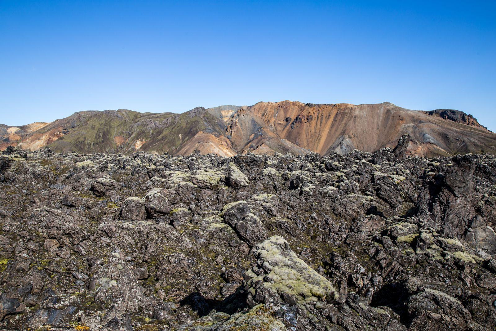 Atravesando el campo de lava