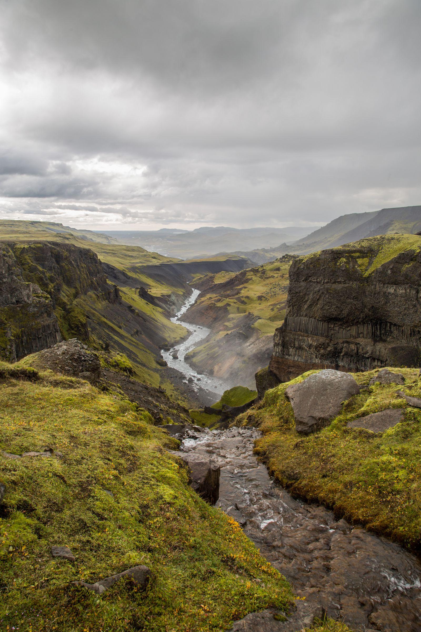 El valle, camino de Glanni