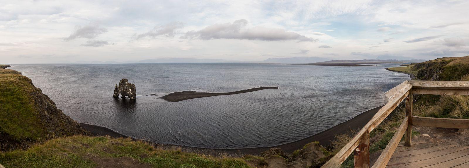 Las orillas de Hvítserkur, ahora desde el mirador