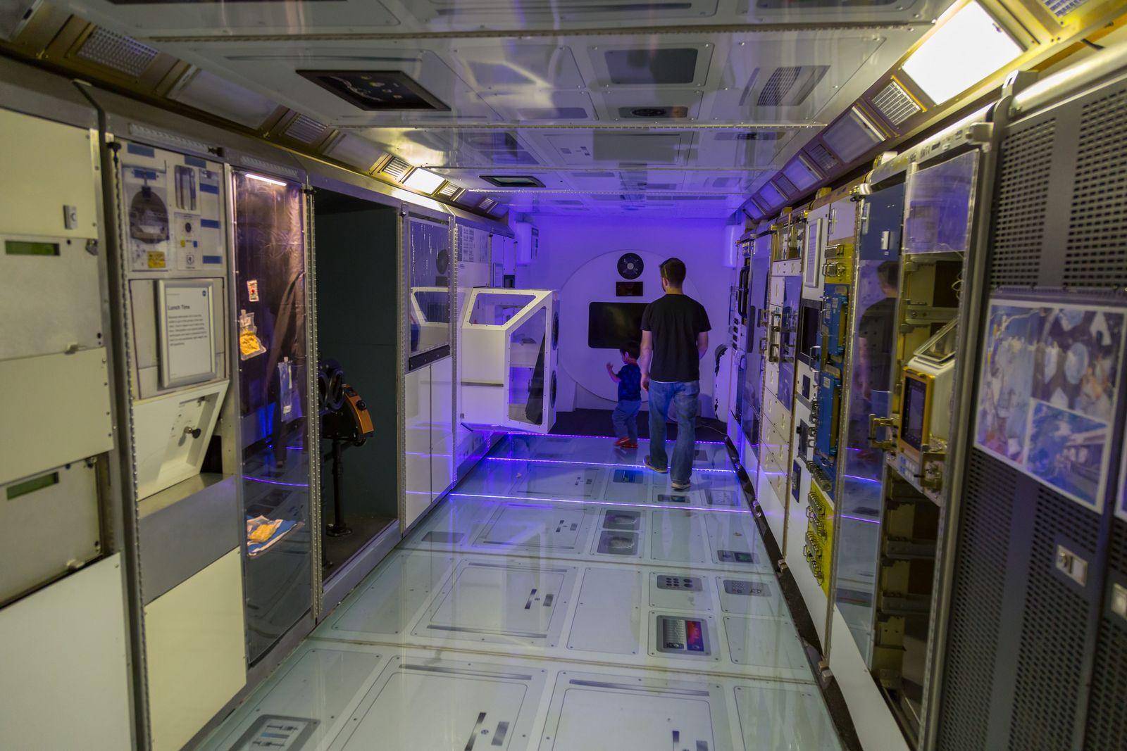 Recreación del interior de una estación espacial