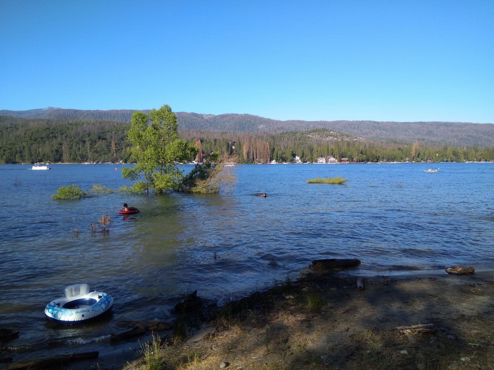 Las turbias aguas de Bass Lake