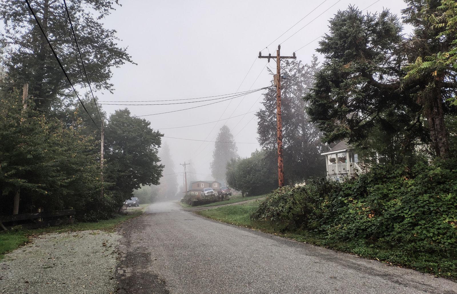 Rockport despierta con niebla