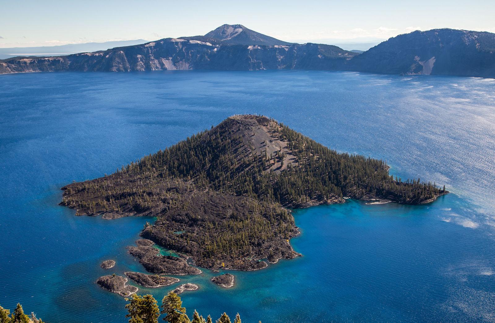 La Wizard Island, con más detalle
