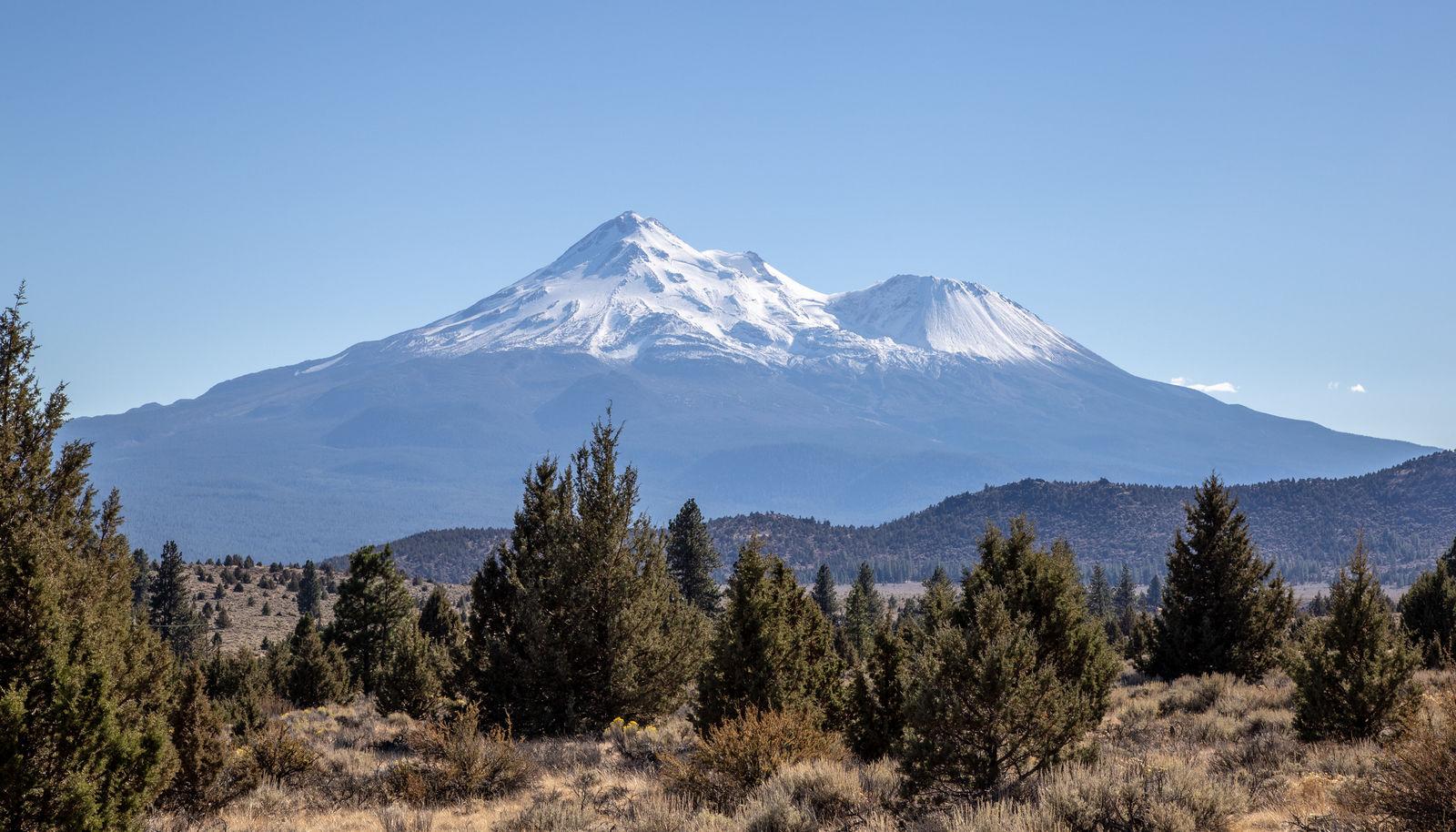 El no planificado pero impresionante Mount Shasta