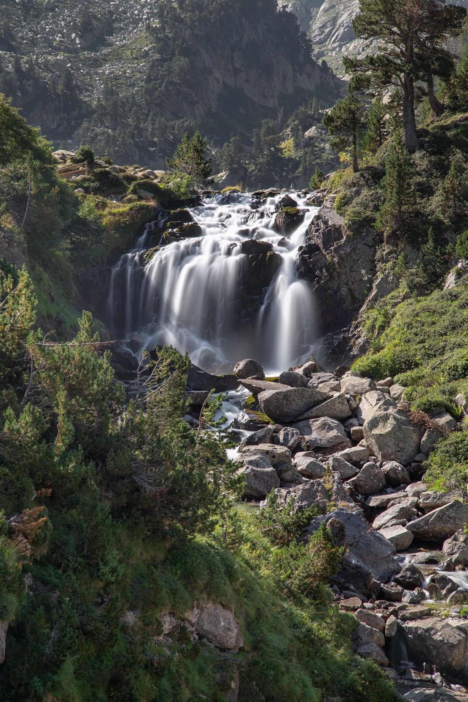 La cascada, ahora desde más cerca