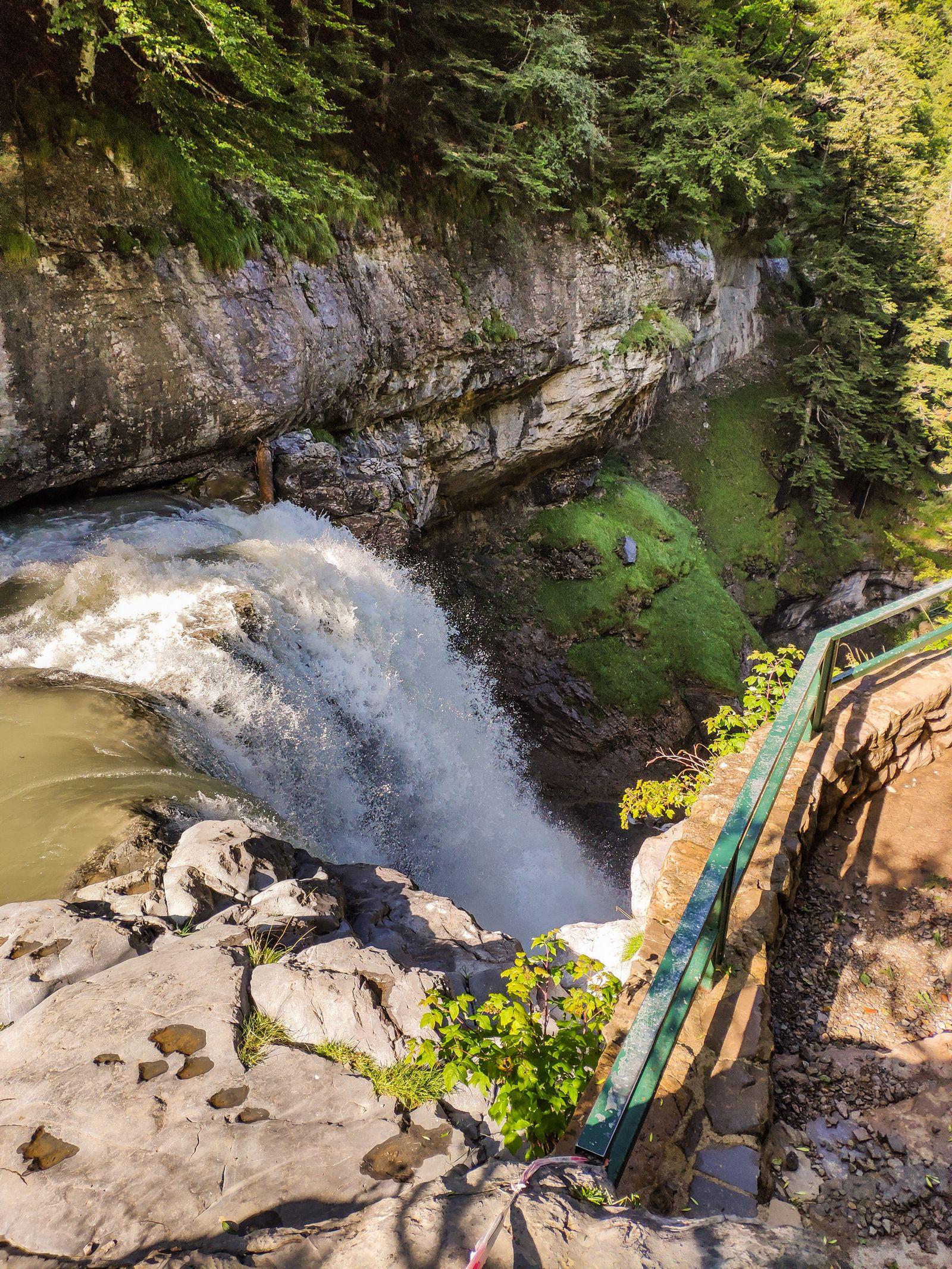 Las aguas de la Cascada del Estrecho