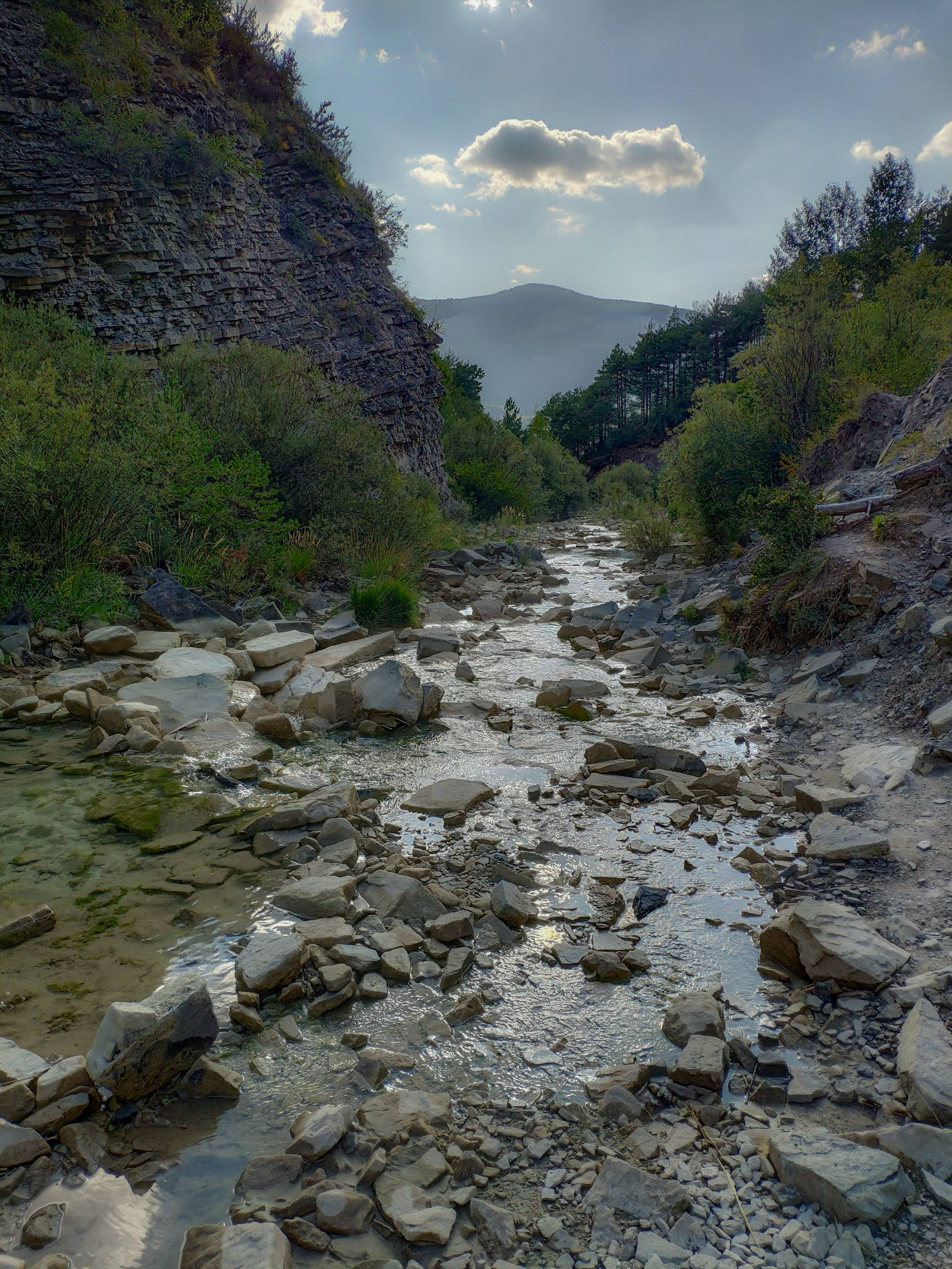 Caminando junto al Barranco Dos Lucas