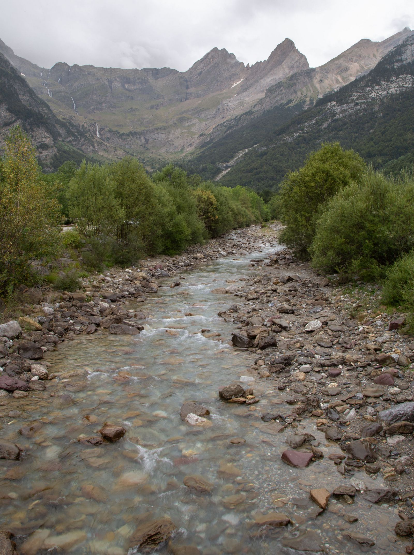 El Río Cinca, a la altura de parking
