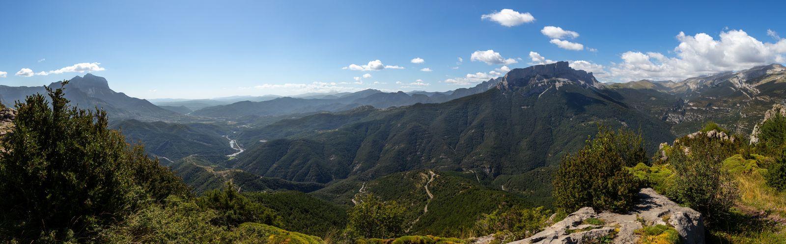 El paisaje desde las dos últimas ermitas