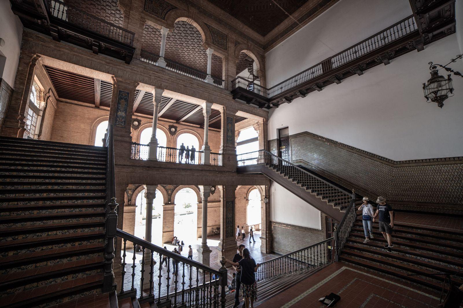 El interior del palacio principal